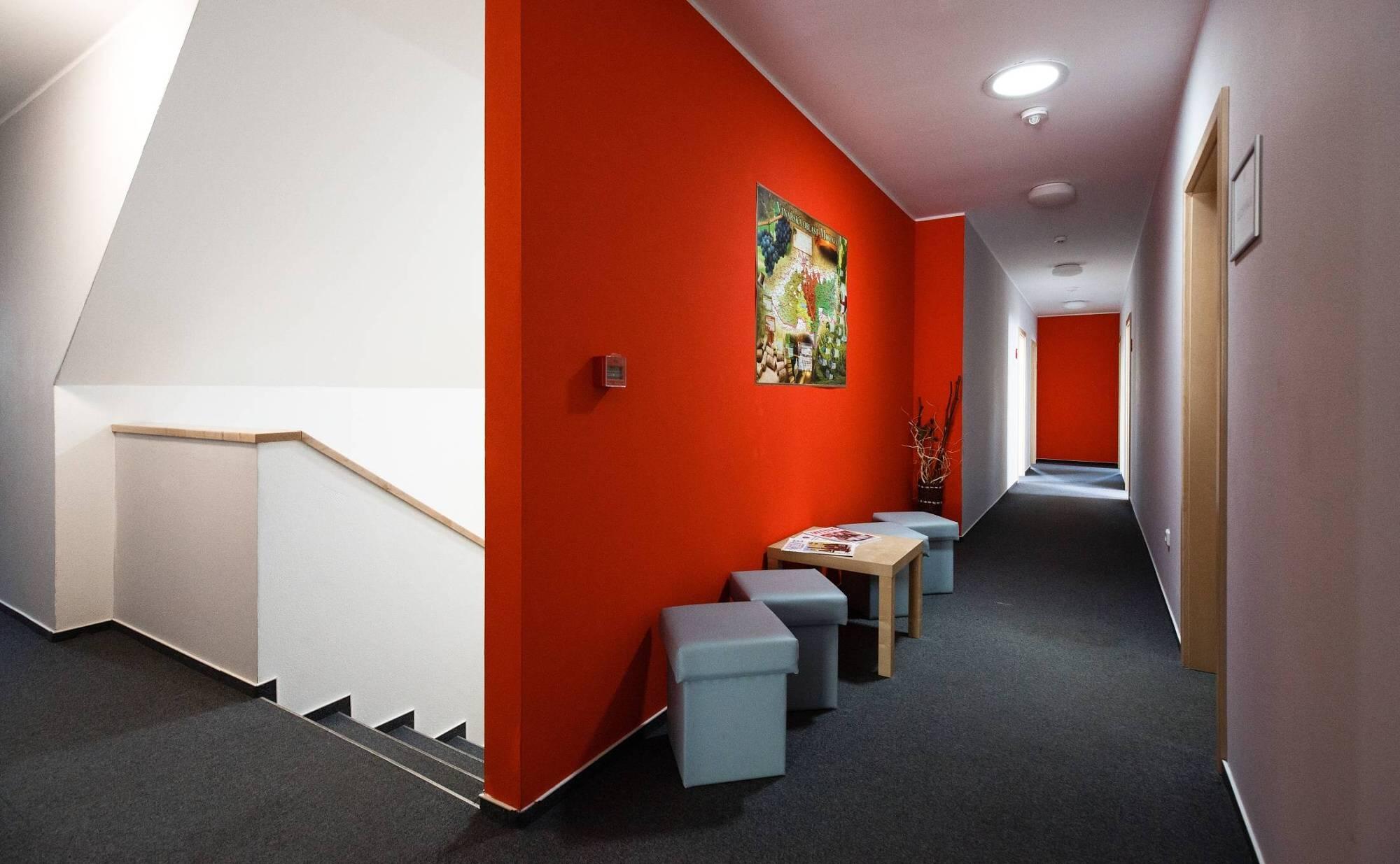 Ubytování - chodba k pokojům